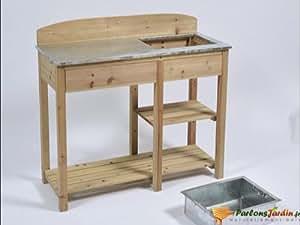 Table de rempotage en bois