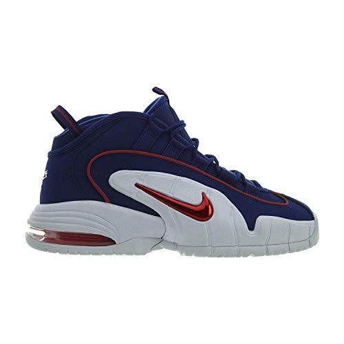 Nike Herren Air Max Penny Basketballschuhe, Mehrfarbig (Deep Royal Blue/Gym Red/White 400), 38.5 EU -