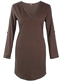 Vestiti Lungo Donna Elegante LandFox Sexy Magliette a Maniche Lunghe in  Chiffon a Maniche Lunghe in 020596f0dab