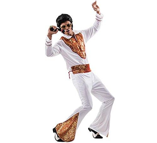 EL REY DEL CARNAVAL, SL Günstiges Elvis-Kostüm für Erwachsene Einheitsgröße (Elvis-kostüme Für Erwachsene)