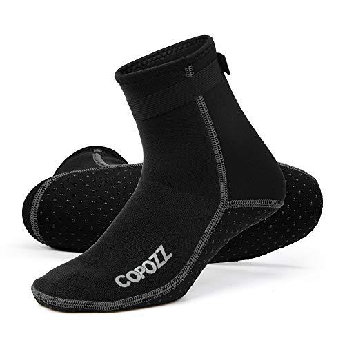 COPOZZ 3mm Tauchsocken Neoprensocken für Erwachsene Damen Herren, Dicke Tauchsocken Wassersport Schwimmen Socken für Schwimmen, Schnorcheln, Segeln, Surfen Wassersport