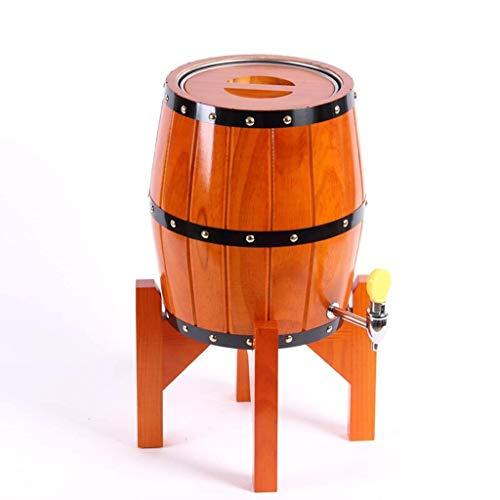 JOLLY Vintage Holz Eiche Holz Weinfass Spender für Whisky Aging Barrel Bourbon Tequila Brau Port Kegs (3/5 l) (Farbe : Style B, größe : 3L)