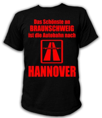 Artdiktat T-Shirt Anti Braunschweig T-Shirt Unisex, Größe XXL, schwarz