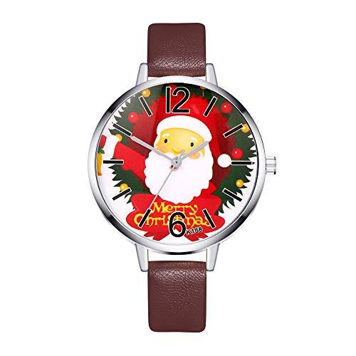 Armbanduhr für Damen Marmor Zifferblatt Uhr mit Milanaise Armband Kaffee 12273 -