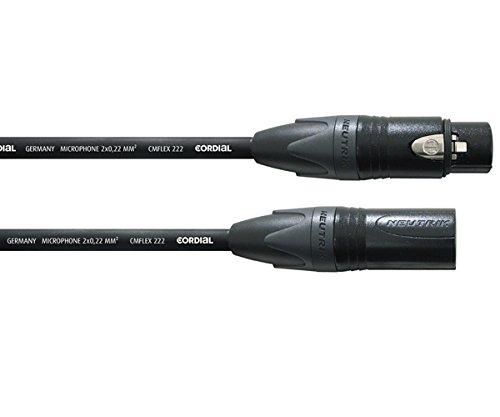 Cordial CPM 20 FM-FLEX 20m XLR (3-pin) XLR (3-pin) Negro cable de...