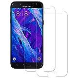 Cristal Templado Samsung Galaxy J7 2017, 2-Unidades Protector de Pantalla Samsung Galaxy J7 2017, POOPHUNS Protector Cristal Vidrio Templado Premium para Samsung Galaxy J7 2017 [9H Dureza] 0.3mm