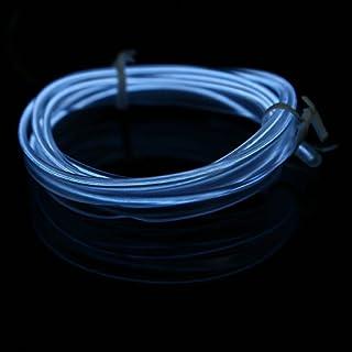 POSSBAY EL Wire LED Neon Lichtstreifen Indoor Licht Seile für Halloween Weihnachten Dekoration Festival Geschenk, weiß