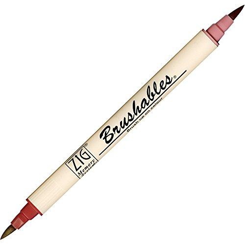 ZIG Brushable Colour Graduation Twin Brush Tip Marker Pen 203antico bordeaux