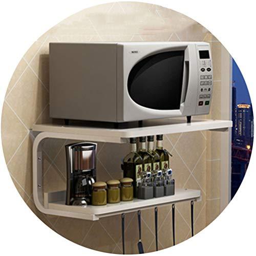 ikrowelle Wandhalterung Küche Ofen Regal Ständer Hängende Halterung Doppelwandspeicher (Color : F, Size : 53 * 37 * 33cm) ()