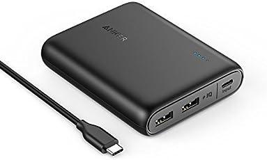 Anker PowerCore 13000mAh USB C Eingang Powerbank mit 2 USB Ports, PowerIQ und VoltageBoost Technologie für Galaxy S8, S8+, Das Neue MacBook, Google Pixel, Nexus 5X/6P, HTC 10 und Mehr (Schwarz)