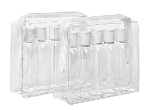 2-x-plastique-air-bouteilles-de-voyage-100-ml-5-pk-trousse-de-toilette-cas-lot-de-10