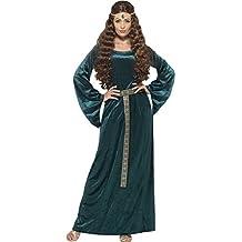 Smiffy 's–Disfraz de mujer de doncella medieval, vestido y diadema, Tales of Old England, muy divertido, talla 36-38, 45497