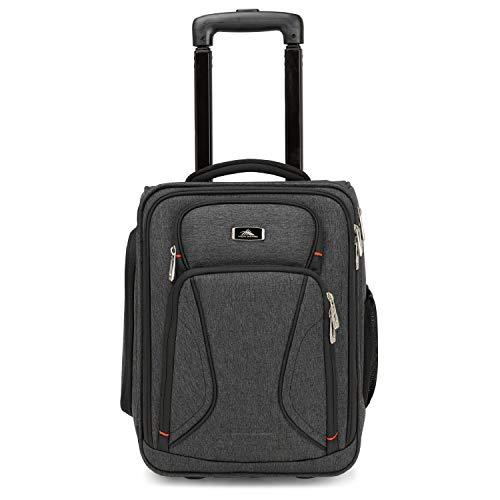 High Sierra Endeavor Laptop-Tasche mit Rädern, Untersitztasche mit Rollen, ideal für Geschäftsreisende, Unisex-Erwachsene (nur Gepäck), Mercury Heather/Black, One Size (Computer Kurz Ballistic)