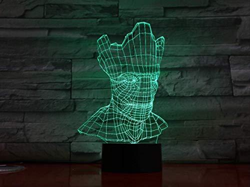 Halloween 3D Lampe Optische Täuschung 7 Bunte Tischlampe Led Nachtlicht Graviert Acryl Nachtlicht Crafts Kids