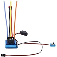 Gazechimp Sensored Brushless 120A ESC Controlador de Velocidad Eléctrico para 1/8 1/10 RC Partes de Vehículos Modelo