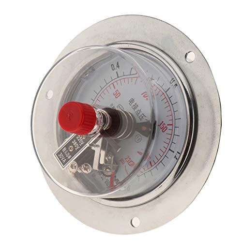 Universal 380V Manometer Druckluftmanometer Vakuummeter Druckmessgerät mit M20 x 1.5 Montage Gewinde - 1.6MPa