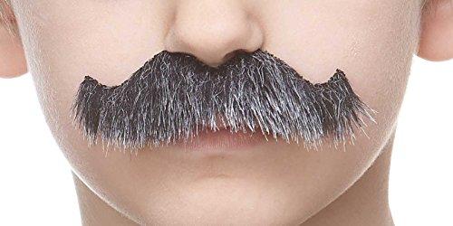 Mustaches Selbstklebende Kleiner Rocking Grundpa's Fälschen Schnurrbart für Kinder Salz und Pfeffer Farbe (Salz & Pfeffer Kostüm)