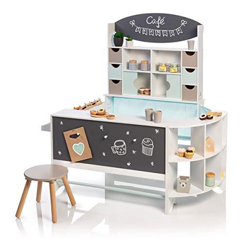 MUSTERKIND Kaufladen & Café - Arabica weiß/Mint/warmgrau aus Holz