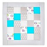 Amilian® Krabbeldecke Patchworkdecke Spieldecke Decke (M029) (125x125 cm)