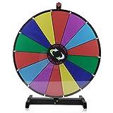 Tatayang 24inch Prize Wheel 14 Slot Spinning Game, Prize Rad Tabletop Funny Spin das Rad Spiel Lucky Rotary Modul Wheel mit Ständer für Fortune Trade Show