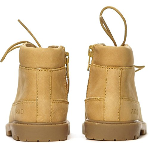 Akid Atticus Tan Leather Ankle Boots Tan