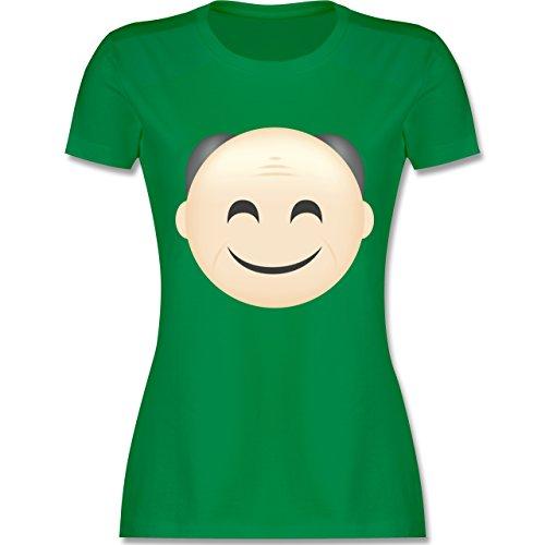 Comic Shirts - Opa Emoji - tailliertes Premium T-Shirt mit Rundhalsausschnitt für Damen Grün