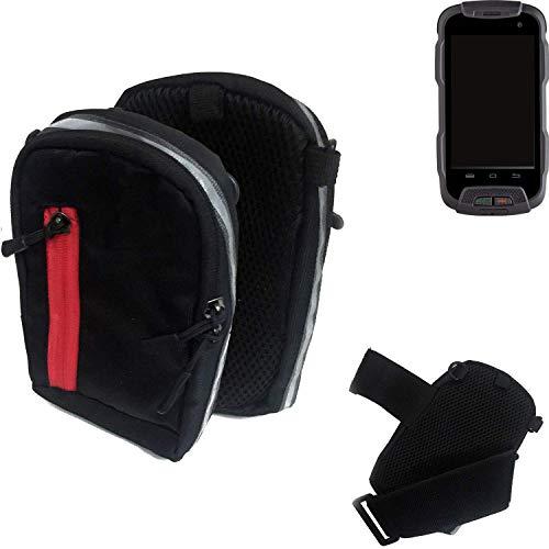 K-S-Trade Outdoor Gürteltasche Umhängetasche für Cyrus CS 23 schwarz Handytasche Case travelbag Schutzhülle Handyhülle