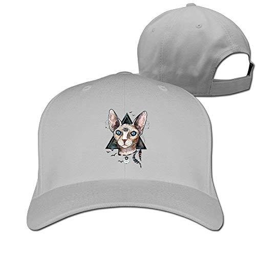 Zhgrong Caps Bib Sphynx Cat Solid Travel Cap Baseball Cap Sport Hats for Men and Womens Flat Cap (Kangol-hüte Camo)