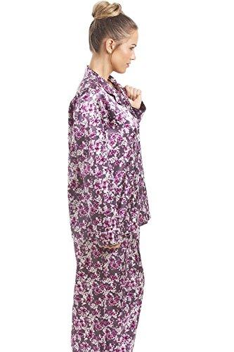 Camille - Pyjama pour femme - satin - motif floral - Violet & Rose Violet & Rose