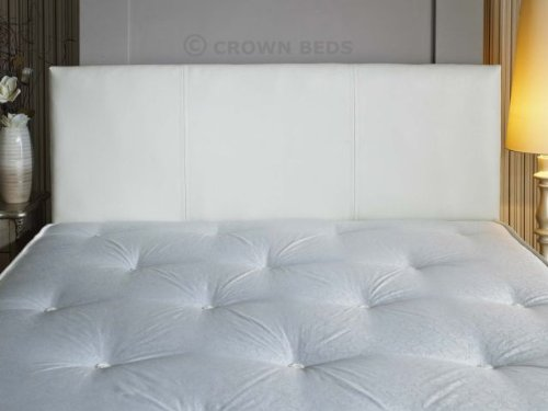 quality faux leather headboard 4ft6 double white amazoncouk kitchen u0026 home