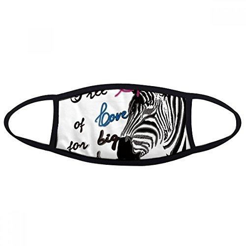 DIYthinker Einfaches Zebra Bild Brief Animal Face Anti-Staub-Maske Anti Kälte Maske Geschenks