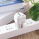 Universal AU US UK to EU AC Power Plug Travel Home Converter Adapter(Color:White)