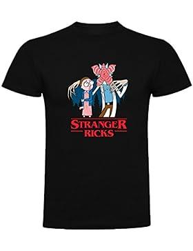 Camiseta de Mujer Rick and Morty Divertida Friky Smith Tiny Stranger Things