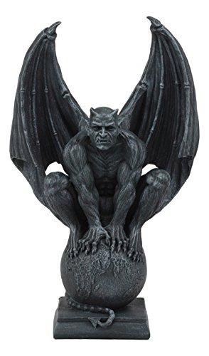 Grip On The World Luzifer Satan auf dem Globe Statue 29,5 cm hoch okultische Kirche Satan Apokalyptische Skulptur ()