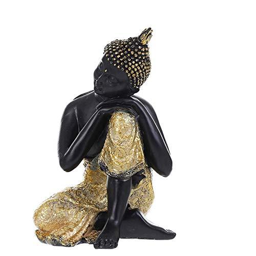 FOXIANG BUF Budismo Adorno Buda Tathagata Estatua Tailandia Yoga Mandala Esculturas de Buda Arte de Resina Amitabha Estatua de Buda