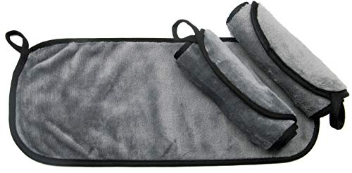 Zollner panno struccante viso riutilizzabile, 3 pezzi, 40x18 cm, in microfibra