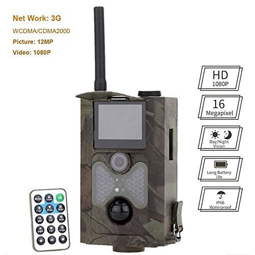 Mengen88 HD Wildlife Trampa de la cámara, 3G MMS Impermeable Caza Leva Tiempo 0.5 s Built-in Pantalla de 2 Pulgadas con visión Nocturna infrarroja, para Naturaleza al Aire Libre, jardín