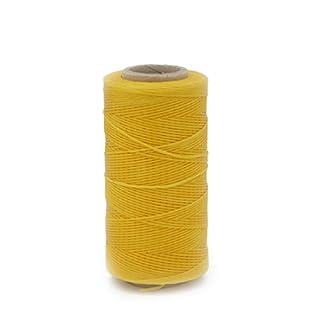 AngelakerryAmazon 1pcs Yellow Cord Waxed Thread Wax Diy Bracelet Jewelry 285 Yards Linen Spool Leather craft Thick