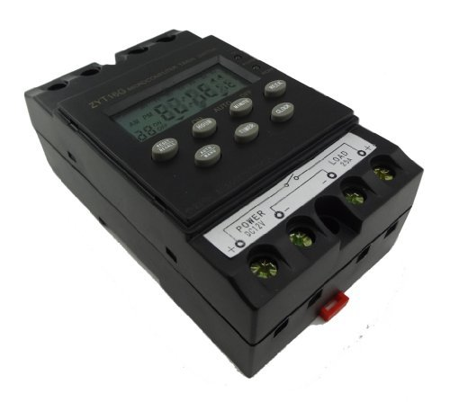 MISOL 12V Timer Switch Timer Controller LCD display,program/programmable timer switch 25A amps by MISOL