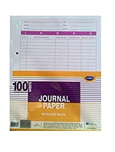Journal Paper Both Side Ruled Pack of 100 sheets