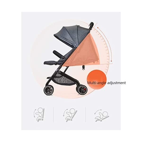 MU Comfortable Pushchairs Collapsible Stroller,One-Hand Brake, Can Sit Reclining Baby Pushchair Stroller, with Storage Basket Four-Wheel Shock Absorber Lightweight Folding Buggy Stroller,Rose red Mu The adjustable 5-point safety harness has comfortable shoulder pads, The sturdy frame has a wider seat which results in a more comfortable ride for your child The stroller can be easily folded, smaller and more portable; the adjustable backrest angle can be seated or lying down, as well as a large shopping basket and caster Comfortable sleep, eight-wheel shock absorber, built-in spring, adapt to all kinds of road conditions, baby ride more comfortable 3