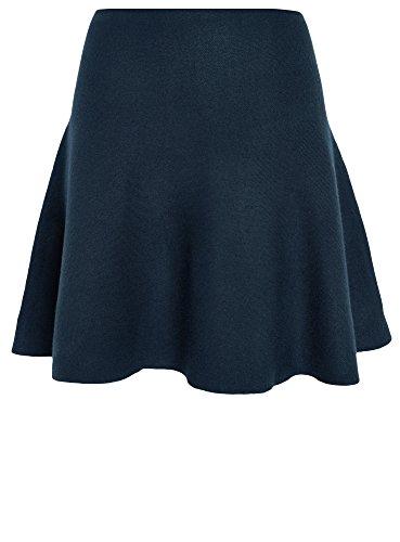 oodji Ultra Damen Ausgestellter Jersey-Rock Blau (7900N)