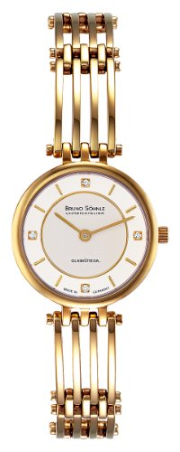 Bruno Söhnle Women's Analogue Watch with Multicolored Dial Analogue Display and Stainless steel plated gold-coloured - 17-33103-242