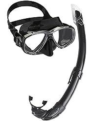 Cressi Perla Mare - Combo Set Maschera Sub Perla e Snorkel Mexico, Nero