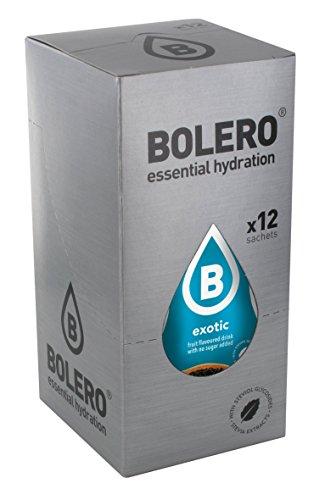 Bolero Bebida Instantánea sin Azúcar, Sabor Exótico - Paquete de 12 x 9 gr - Total: 108 gr