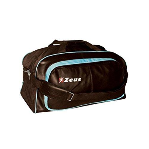 Zeus Herren Sporttasche Schultertasche Gym Bag Fußball Umhängetasche BORSA LAMBDA 58X25X30 cm (BRAUN-SKY) BRAUN-SKY