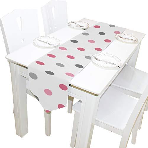Yushg Schöne Dot Element Kommode Schal Tuch Abdeckung Tischläufer Tischdecke Tischset Küche Esszimmer Wohnzimmer Home Hochzeitsbankett Decor Indoor 13x90 Zoll