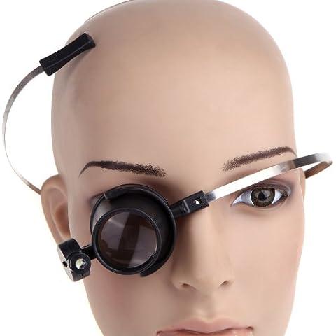 Zophor (TM) Lupa 2014nueva lupa lámpara de magnificar de cristal gafas con luz LED 30mm 15x eye-clamp-free Lupa para reparación de relojes
