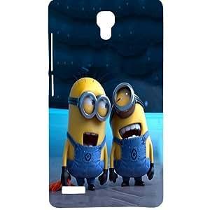 Casotec Minion Design Hard Back Case Cover for Xiaomi Redmi Note 4G