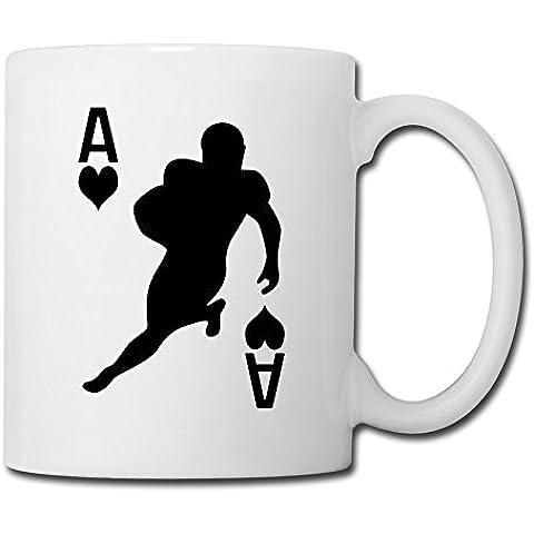 long5zg Football americano caffè tazza di ceramica divertente Taglia